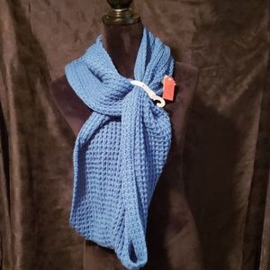 Mossimo Lake Blue Cable Scarf
